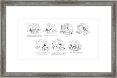. . . Hits The Left Side Of The Line And Oh Framed Print by Perry Barlow
