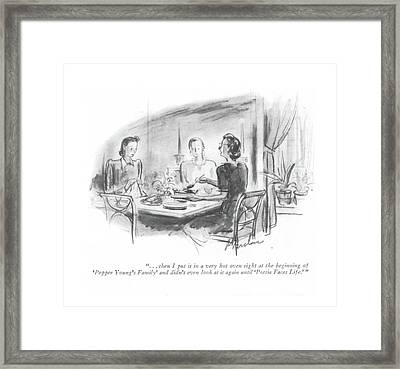 . . . Then I Put It In A Very Hot Oven Right Framed Print
