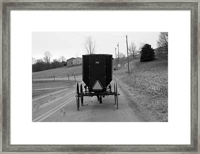 A Cold Amish Ride Framed Print