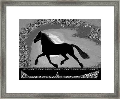 If Mind Is A Horse You Need Your Heart And Soul To Control It For The Right Pace And Direction  S Framed Print