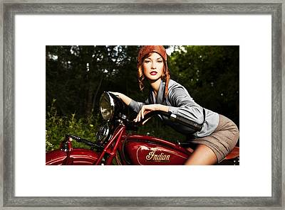 Indian Motorcycle Framed Print