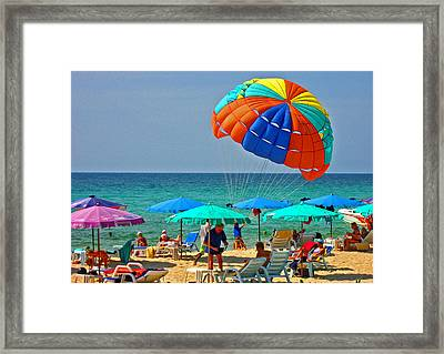 Texture. I Want To Swim. Framed Print