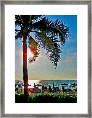Velvet Sunset. Framed Print