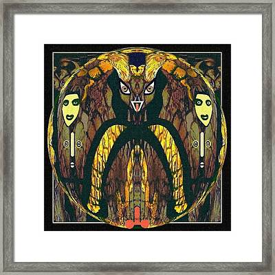 056 - A Demon   Framed Print by Irmgard Schoendorf Welch