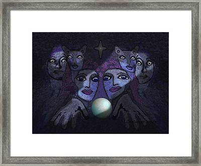 062 - Demons B Framed Print by Irmgard Schoendorf Welch