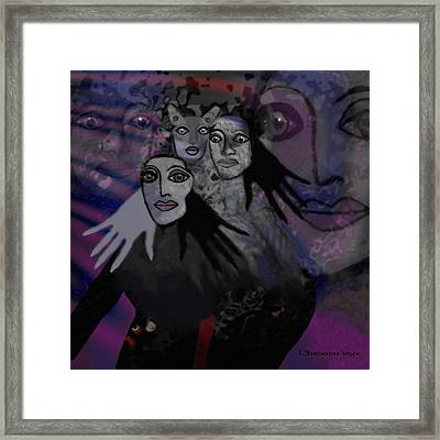 071 -  People Of   Night   Framed Print by Irmgard Schoendorf Welch