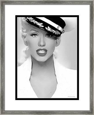 # 1 Christina Aguilera Portrait. Framed Print