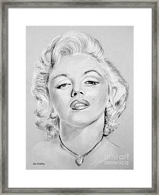 # 1 Marilyn Monroe Portrait. Framed Print