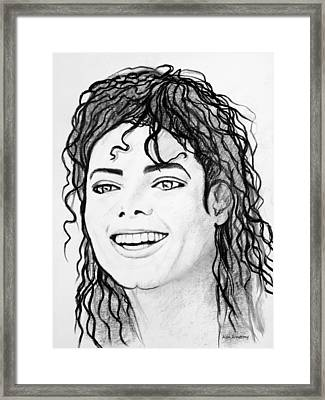 # 1 Micheal Jackson Portraits. Framed Print by Alan Armstrong