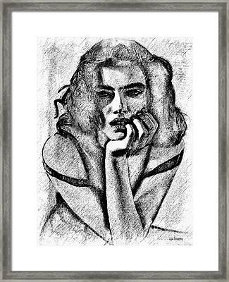 # 11 Adriana Lima Portrait. Framed Print