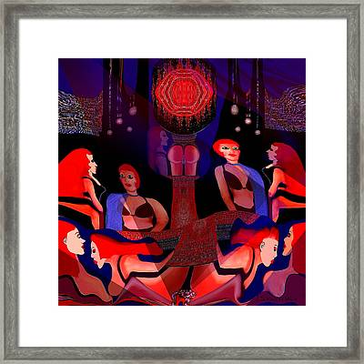 125 - Harem ... Framed Print by Irmgard Schoendorf Welch