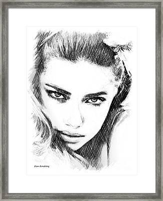 # 13 Adriana Lima Portrait. Framed Print