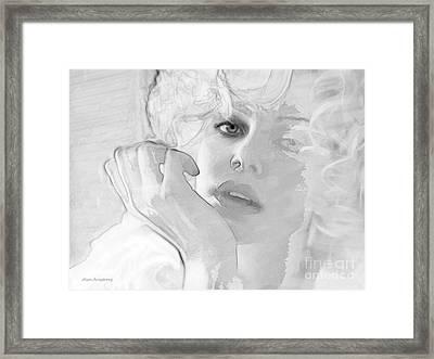 # 13 Charlize Theron Portrait Framed Print