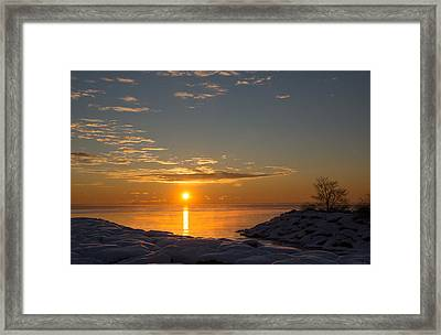 Framed Print featuring the photograph -15 Degrees Sunrise by Georgia Mizuleva