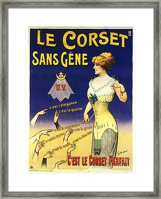 1890s France Womens Underwear Corsets Framed Print by The Advertising Archives