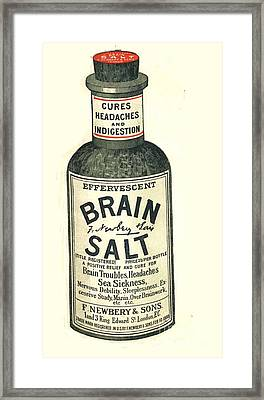 1890s Uk Brain Salt Headaches Humour Framed Print