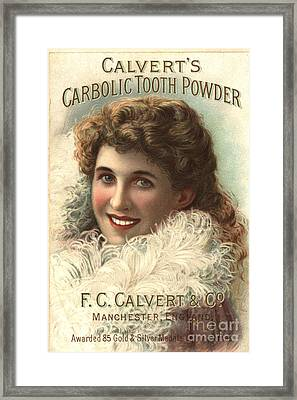 1890s Uk Calvert Toothpaste Framed Print by The Advertising Archives