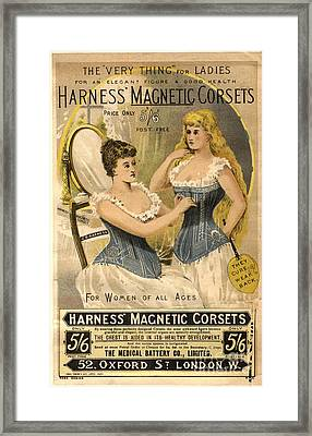 1890s Uk Corsets Girdles Magnetic Framed Print by The Advertising Archives