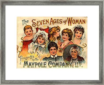 1890s Uk Maypole Ageing The Seven Ages Framed Print by The Advertising Archives