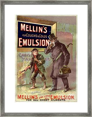 1890s Uk Mellin�s Emulsion Coughs Framed Print by The Advertising Archives