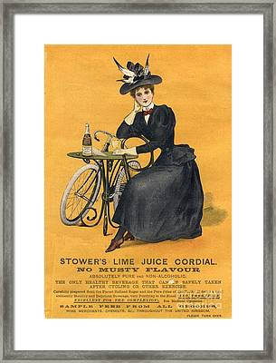 1890s Uk  Stowers Lime Juice Cordial Framed Print by The Advertising Archives