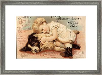 1890s Usa Babies Hoytes Cologne Dogs Framed Print by The Advertising Archives