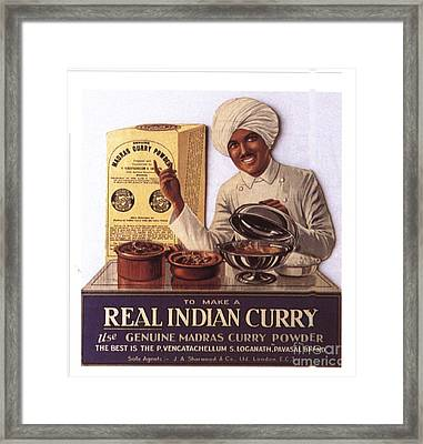 1910s Uk Indian Food Curry Warning - Framed Print by The Advertising Archives