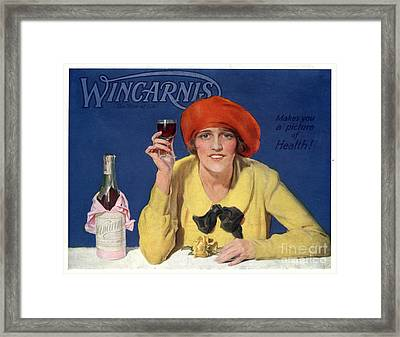 1910s Uk Wincarnis Wine Fortified Framed Print by The Advertising Archives