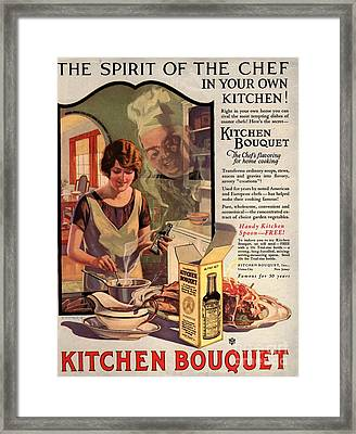 1910s Usa Cooking Kitchens Bouquets Framed Print by The Advertising Archives