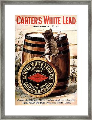 1910s Usa Paint Carters Lead Framed Print by The Advertising Archives