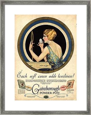 1910s Usa Pampering Make-up Makeup Framed Print by The Advertising Archives