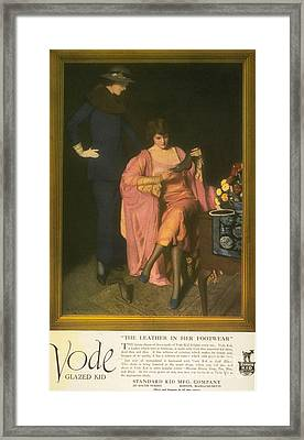 1910s Usa Vode Shoes Womens Framed Print by The Advertising Archives