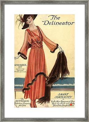 1910s Usa Womens Magazines Clothing Framed Print by The Advertising Archives