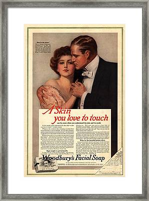 1915 1910s Usa WoodburyÕs Facials Framed Print by The Advertising Archives