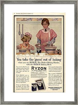 1917 1910s Usa Cooking Ryzon Baking Framed Print by The Advertising Archives
