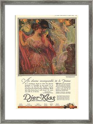1918 1910s Usa Djer-kiss Talcum Framed Print by The Advertising Archives