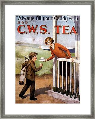 1920s Uk Tea Golf Cws Framed Print by The Advertising Archives