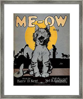 1920s Usa Cats Me-ow Meow Framed Print by The Advertising Archives