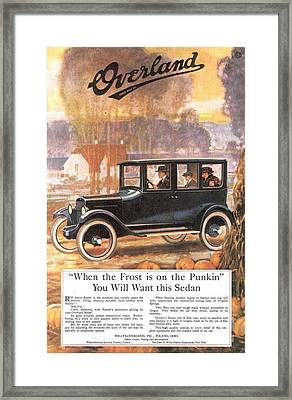 1920s Usa Overland Cars Framed Print by The Advertising Archives