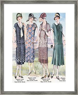 1920s Usa Womens Mail Order Catalogues Framed Print