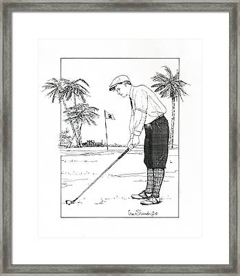 Framed Print featuring the drawing  1920's Vintage Golfer by Ira Shander