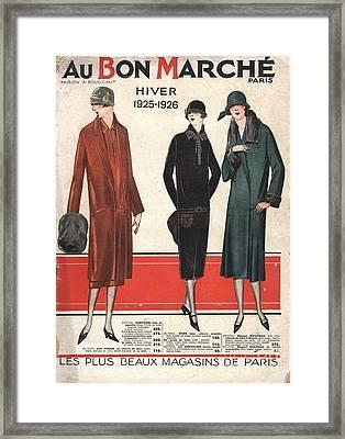 1924 1920s France Catalogues Au Bon Framed Print