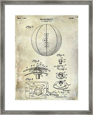 1927 Basketball Patent Drawing Framed Print by Jon Neidert