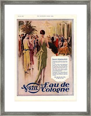 1928 1920s Uk 4711 Eau De Cologne Framed Print by The Advertising Archives