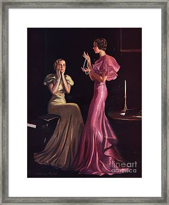 1930s Uk Womens Evening Gowns Dresses Framed Print by The Advertising Archives