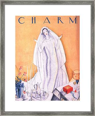 1930s Usa Marriages Brides Charm Framed Print by The Advertising Archives