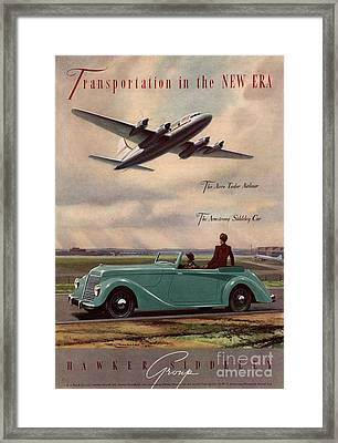 1940s Uk Aviation Hawker Siddeley Cars Framed Print by The Advertising Archives