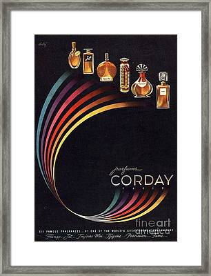 1940s Usa Corday   Womens Framed Print by The Advertising Archives