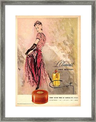 1940s Usa Coty   Laimant Womens Framed Print by The Advertising Archives