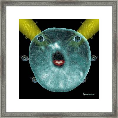 195 - Jelly Creature Framed Print by Irmgard Schoendorf Welch